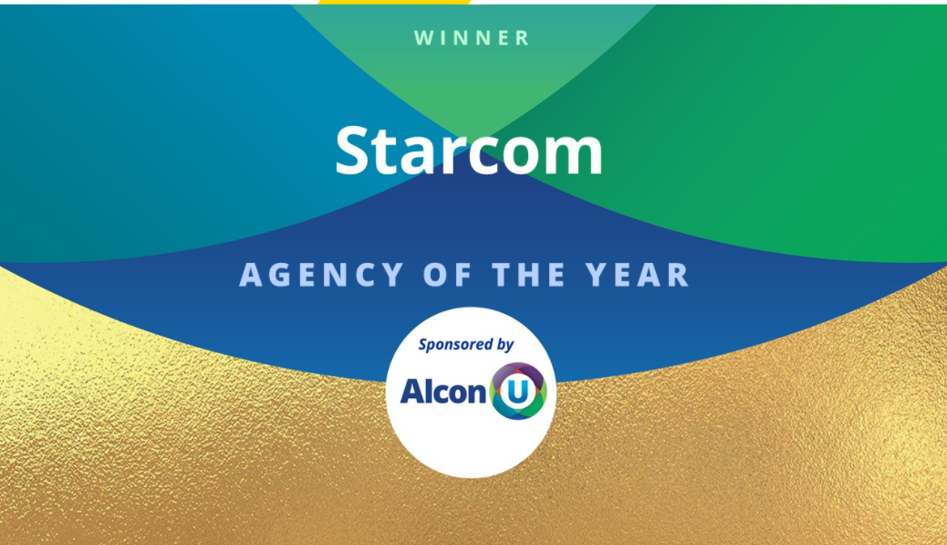 Starcom was honored as Agency of the Year in the AlconU Marketing Awards