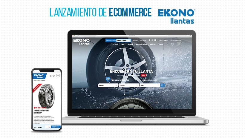 EXE, agencia de marketing digital peruana, desarrolló el eCommerce de la empresa de venta de neumáticos Ekonollantas