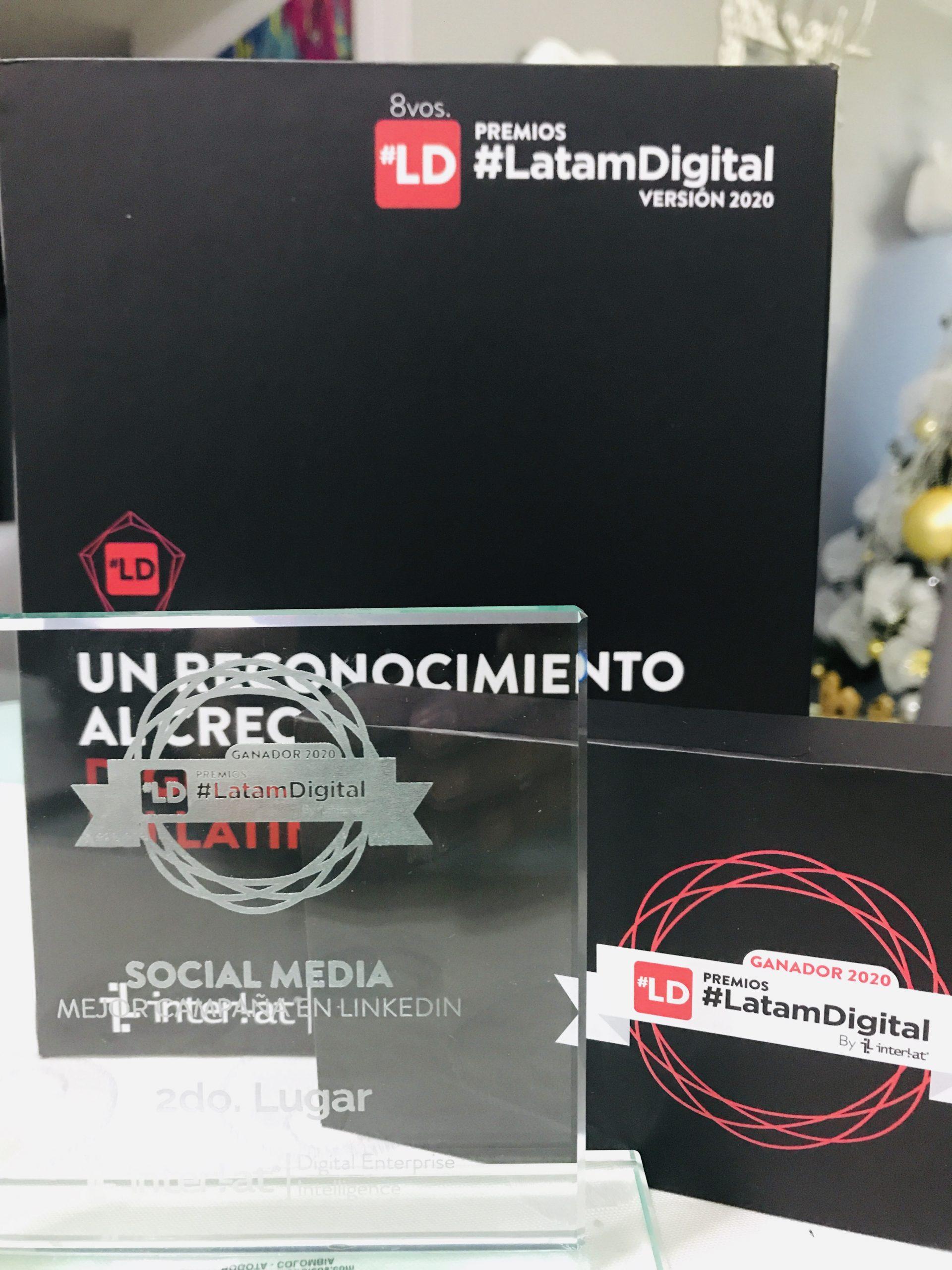 Agencia revelación gana segundo puesto a mejor campaña en LinkedIn en la 8va edición de Premios #LatamDigital 2020