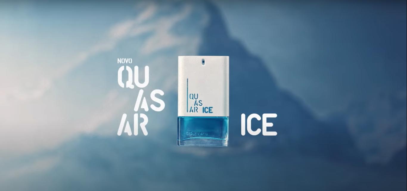 Dualidad de frialdad y frescura en la campaña de lanzamiento de Quasar Ice, de O Boticário